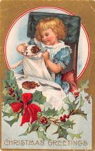 hol051293 - Christmas Postcard Old Vintage Antique Post Card