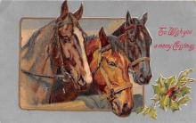 hol051303 - Christmas Postcard Old Vintage Antique Post Card