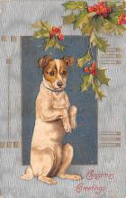hol051311 - Christmas Postcard Old Vintage Antique Post Card