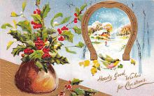 hol051315 - Christmas Postcard Old Vintage Antique Post Card
