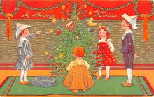 hol051317 - Christmas Postcard Old Vintage Antique Post Card