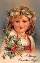 hol051319 - Christmas Postcard Old Vintage Antique Post Card