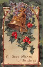 hol051321 - Christmas Postcard Old Vintage Antique Post Card