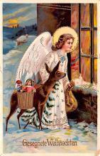 hol051325 - Christmas Postcard Old Vintage Antique Post Card