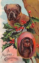 hol051327 - Christmas Postcard Old Vintage Antique Post Card