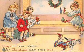 hol051335 - Christmas Postcard Old Vintage Antique Post Card