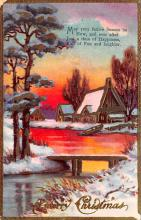 hol051341 - Christmas Postcard Old Vintage Antique Post Card