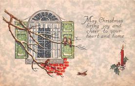 hol051343 - Christmas Postcard Old Vintage Antique Post Card
