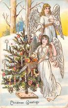 hol051347 - Christmas Postcard Old Vintage Antique Post Card