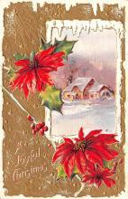 hol051351 - Christmas Postcard Old Vintage Antique Post Card