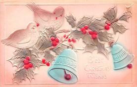 hol051357 - Christmas Postcard Old Vintage Antique Post Card