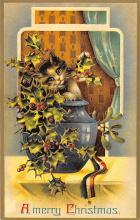 hol051363 - Christmas Postcard Old Vintage Antique Post Card