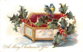 hol051365 - Christmas Postcard Old Vintage Antique Post Card
