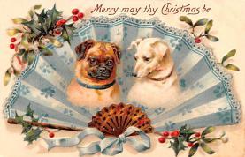 hol051367 - Christmas Postcard Old Vintage Antique Post Card