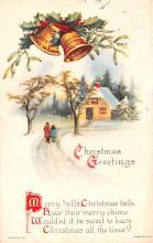hol051369 - Christmas Postcard Old Vintage Antique Post Card
