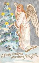 hol051371 - Christmas Postcard Old Vintage Antique Post Card