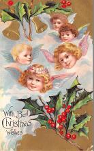 hol051373 - Christmas Postcard Old Vintage Antique Post Card