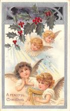 hol051375 - Christmas Postcard Old Vintage Antique Post Card