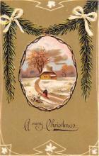 hol051379 - Christmas Postcard Old Vintage Antique Post Card