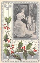 hol051381 - Christmas Postcard Old Vintage Antique Post Card
