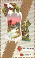 hol051387 - Christmas Postcard Old Vintage Antique Post Card