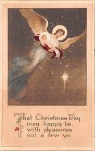 hol051389 - Christmas Postcard Old Vintage Antique Post Card