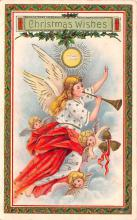 hol051391 - Christmas Postcard Old Vintage Antique Post Card