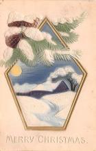 hol051393 - Christmas Postcard Old Vintage Antique Post Card