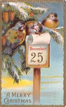 hol051395 - Christmas Postcard Old Vintage Antique Post Card
