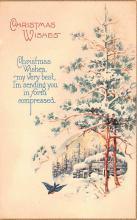 hol051397 - Christmas Postcard Old Vintage Antique Post Card