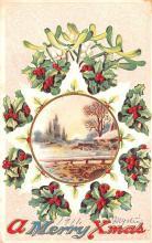 hol051399 - Christmas Postcard Old Vintage Antique Post Card