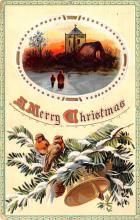 hol051401 - Christmas Postcard Old Vintage Antique Post Card