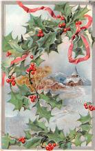 hol051403 - Christmas Postcard Old Vintage Antique Post Card