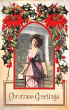 hol051409 - Christmas Postcard Old Vintage Antique Post Card