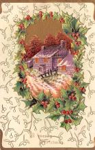 hol051411 - Christmas Postcard Old Vintage Antique Post Card