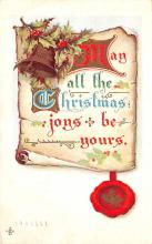 hol051413 - Christmas Postcard Old Vintage Antique Post Card