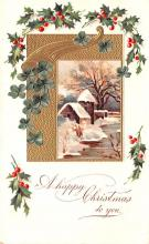 hol051417 - Christmas Postcard Old Vintage Antique Post Card