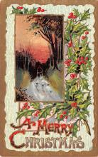 hol051419 - Christmas Postcard Old Vintage Antique Post Card