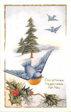 hol051421 - Christmas Postcard Old Vintage Antique Post Card