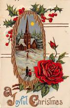 hol051423 - Christmas Postcard Old Vintage Antique Post Card
