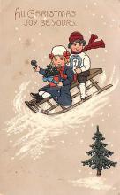 hol051425 - Christmas Postcard Old Vintage Antique Post Card