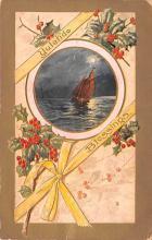 hol051429 - Christmas Postcard Old Vintage Antique Post Card