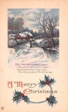 hol051435 - Christmas Postcard Old Vintage Antique Post Card