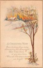 hol051437 - Christmas Postcard Old Vintage Antique Post Card