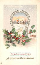 hol051441 - Christmas Postcard Old Vintage Antique Post Card