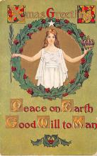 hol051445 - Christmas Postcard Old Vintage Antique Post Card