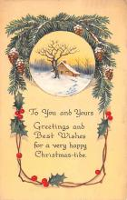 hol051453 - Christmas Postcard Old Vintage Antique Post Card
