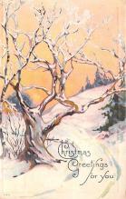 hol051455 - Christmas Postcard Old Vintage Antique Post Card