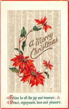 hol051457 - Christmas Postcard Old Vintage Antique Post Card