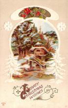 hol051459 - Christmas Postcard Old Vintage Antique Post Card
